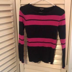 Super Cut Navy & Hot Pink Sweater!!
